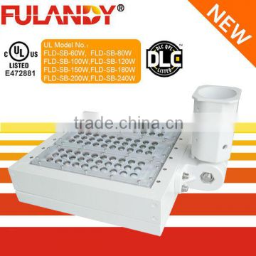 UL,DLC Certification and Aluminum Lamp Body Material led shoe box light for sports field lighting