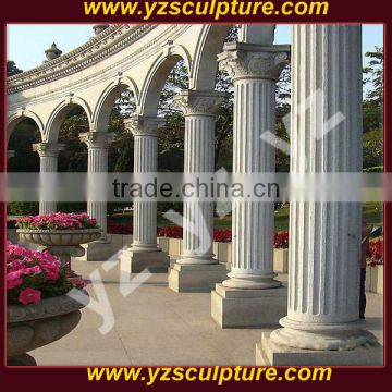 large beautiful carved nature stone column for garden decoration