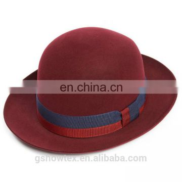 Wholesale hat suppliers china red lady's bowler hard wool