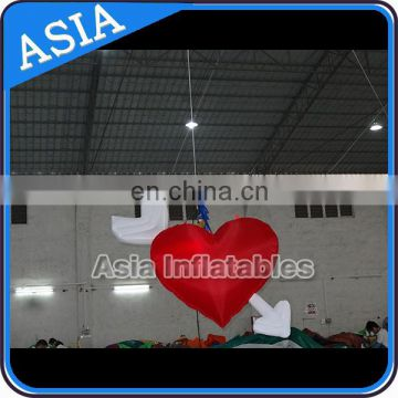 suspend lighting inflatable heart for valentine decoration