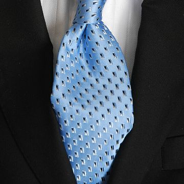 Silver Printed Mens Jacquard Neckties Plain Digital Printing