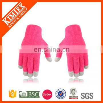 2017 High quality custom knit promotion texting gloves