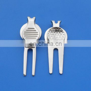 Promotional high quality existing mold magnetic golf divot tool with custom printed ball marker