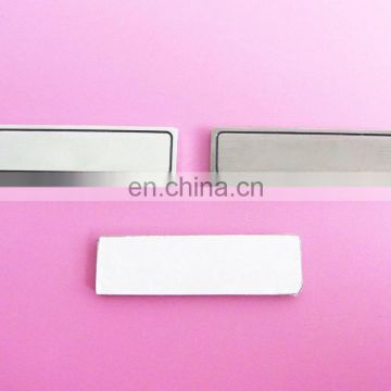 Rectangle shape silver and antique silver metal logo blanks with stickers