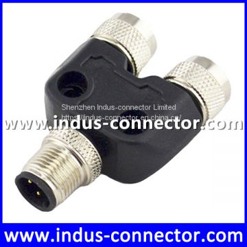M12 3 4 5 8 12 pin male to female y splitter cable connector underwater function for sensor