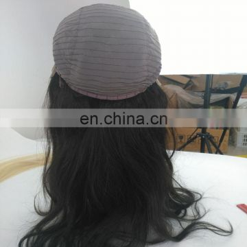 Top quality large in stock human hair front lace wigs with adjustable straps remy brazilian human hair front lace wigs
