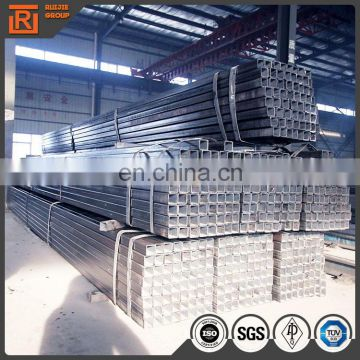 astm a500 gr.b construction tube bared steel square tube