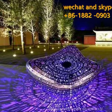 Creative Stainless Steel Laser Letter Light Sculpture Outdoor China Supplier