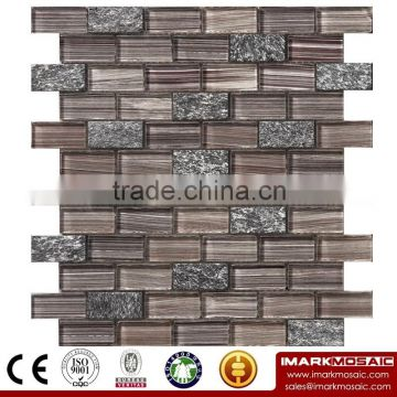 IMARK Electroplated Crystal Glass Mosaic Tile Mix Marble Mosaic Tile Code IXGM8-011