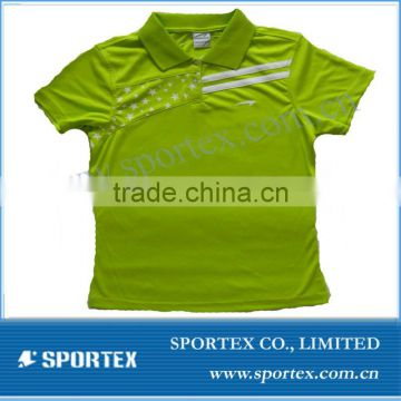 100%polyester green women's running t shirt