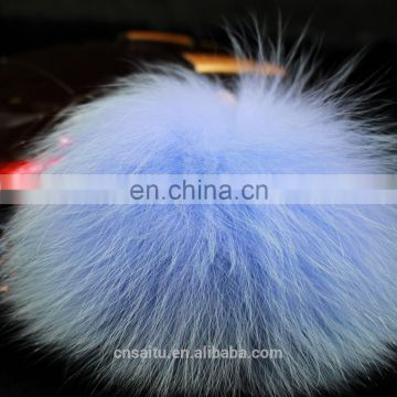 10cm customized multi-colors real fox fur pompon good quality low prices for bag charm knit beanie keychain fashion accessories