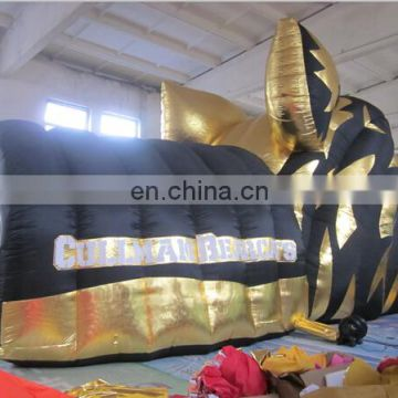 Inflatable Animal Tunnel, Inflatable Tiger-head Tunnel Games for sale
