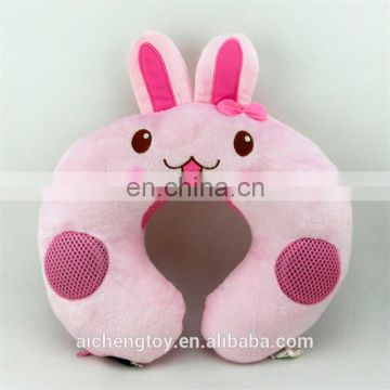 hot sale animals plush neck pillow custom travel musical u shape pillow