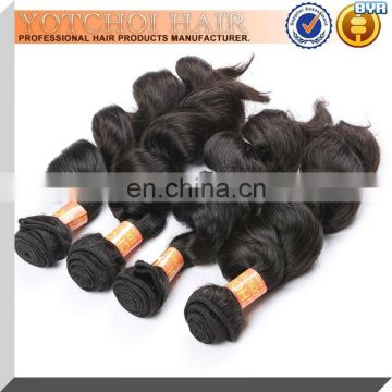Neat & Clean Hair Weaving Good Sewing Machine Made Hair Weft Natural Black Can Be Dyed/Bleached Brazilian Remy Hair