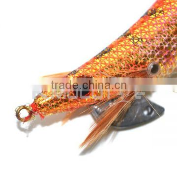 CHS012 squid jig 2.5# electroplating body shiny color sharp hook fishing lure for octopus in saltwater