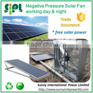 Heavy-duty workshop ventilation solar panel powered large exhaust fan with battery