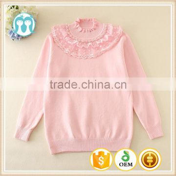 5e0cbcdb9 girls sweaters 2017 spring pink turtleneck clothes woolen sweater ...