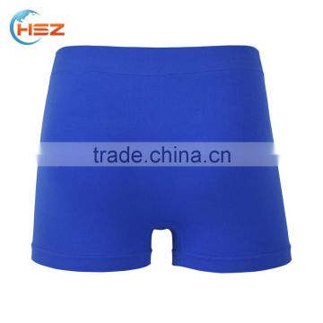 HSZ-0008 New arrival underwear for fancy men with elastic band customized sexy satin blue panties in fashion design