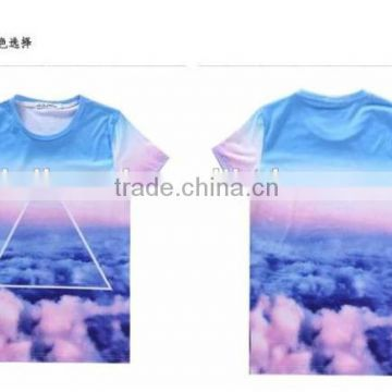Hot sales good qulaity custom Men's 3d printing t-shirt