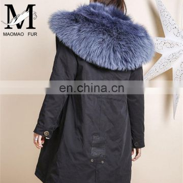 69f6dd7ae8 Wholesale Factory Price Long Fox Fur Lined Parka Raccoon Fur Collar Ladies Winter  Coats of Adult fur parkas from China Suppliers - 157547542
