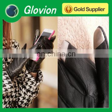 Glovion hot sale leather touch screen winter gloves