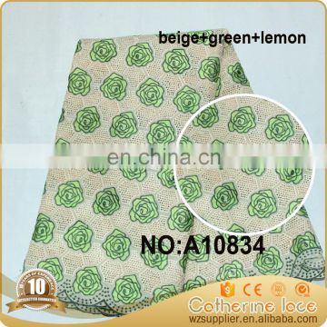 high quality eyelet Swiss lace voile lace fabric