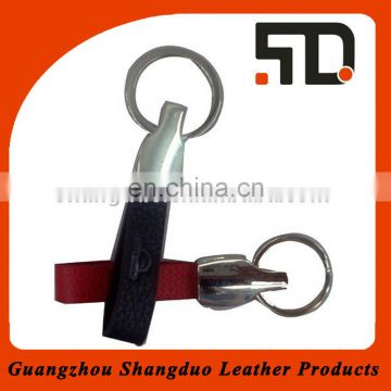 Newly Protable Design Coin Holder Leather Key Fob As Gift