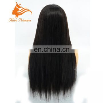 26inch Long Silky Straight Human Hair Lace Front Wig Virgin Human Hair Full Lace Wig