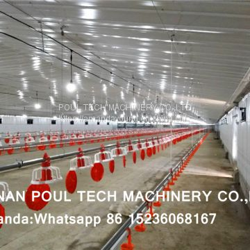 South Africa Chicken House Broiler Plastic Saltted Floor System & Broiler Flooring Raise System with Nipple Drinker System & Feeding Pan Line