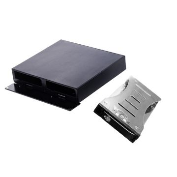 Aluminum 2.5in Dual Bay SATA Removable Hot Swap SSD/HDD External Enclosure with USB3.0