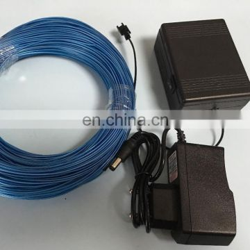 high quality 50m blue EL Wire 4mm roll with SM connector