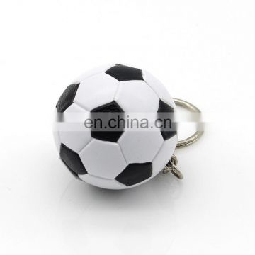 2017 popular 3D PVC sports football/soccer keychain for sale
