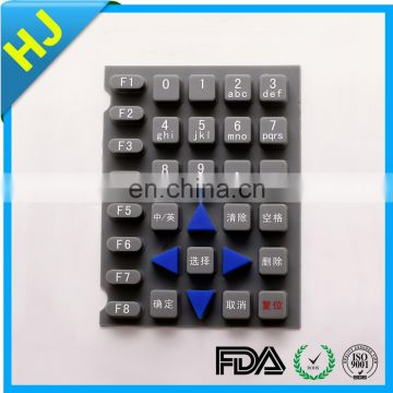 Waterproof silicone membrane numeric keypad