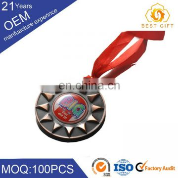 Customized Kids Gift Cheap Plastic Award Rubber Soft PVC Medals