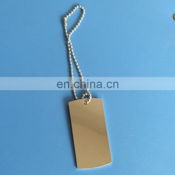 existing mold double sides blank dog tag necklace with printing / laser logo