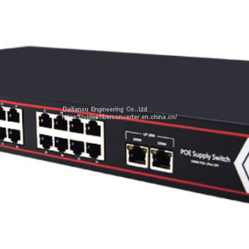 24channels 10/100M/1000M POE Switch POE Ethernet Switch 48V DC standard POE 15.3W POE Switch