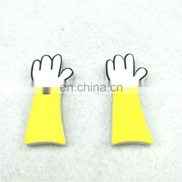 Yellow EVA foam display cutout arms and foot shape