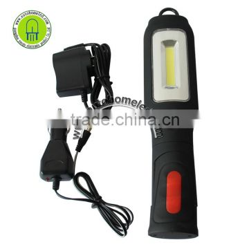 Rechargeable COB+LED Hand Torch Lamp Magnetic Inspection Work Light Flexible