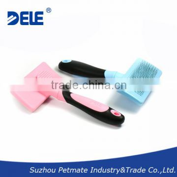 Professional New pet products self-cleaning dog slicker brush deshedding tool and pet grooming brush for dogs