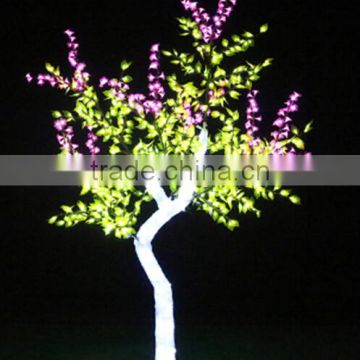 Home garden decorative 230cm Height outdoor artificial cyan with pink flashing LED solar lighted up trees EDS06 1419