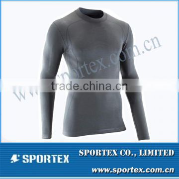 2014 hot selling breathable compression top for men as sports compression wear