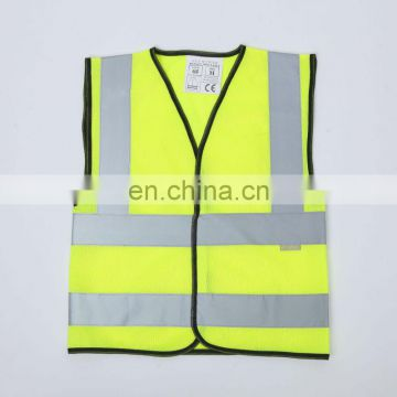CNSS EN1150 fluorescent yellow high visibility children's reflective safety vest