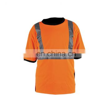 Hi-Vis Short sleves men's safety polo T-shirt
