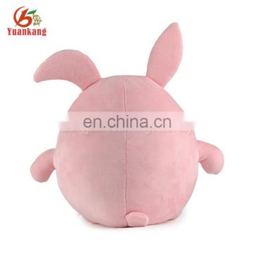 ICTI factory plush egg-shaped stuffed pink rabbit toy
