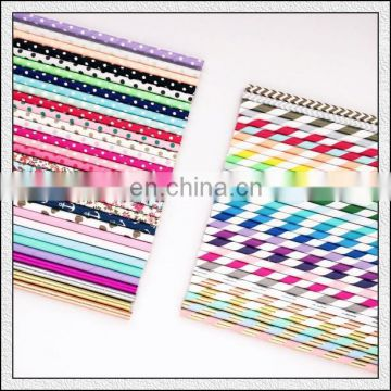party paper striped straws with pineapple for drinking straws party