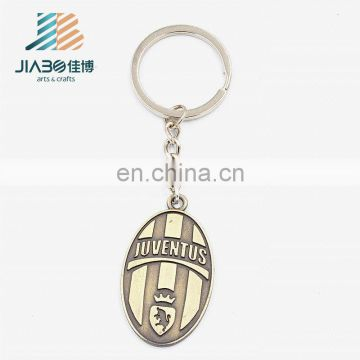 cheap metal fans souvenir keychain Europe and the United Football Club LOGO keychain basketball souvenir gifts
