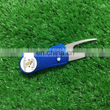 Golf folding pitch forks with custom embossed enamel ball markers