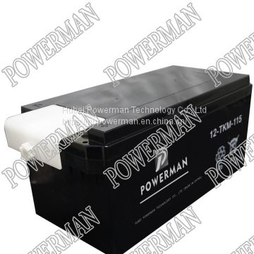 24V 115AH 12-TKM-115 BLACK CHINESE MILITARY TANK LEAD ACID SEALED MAINTAINESS FREE STARTER STARTING BATTERY
