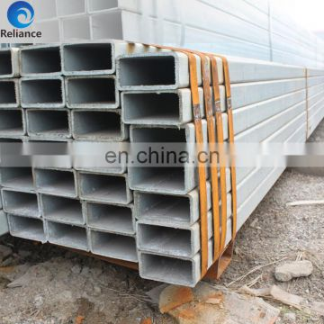 Square section hot-galvanized mild steel pipe weight of HOT DIP