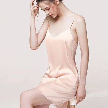 One-Piece Silk Pajamas for Women EIT-020